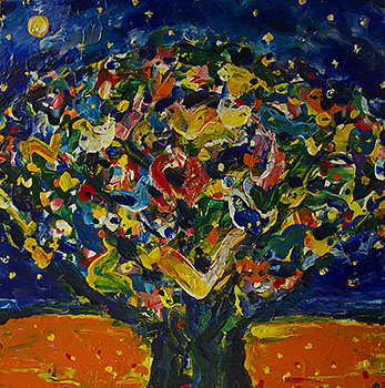 Tree with a Starry Night (Hommage a Vincent van Gogh)